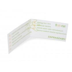 Wizytówki  1000 szt standard sztywny karton folia błysk