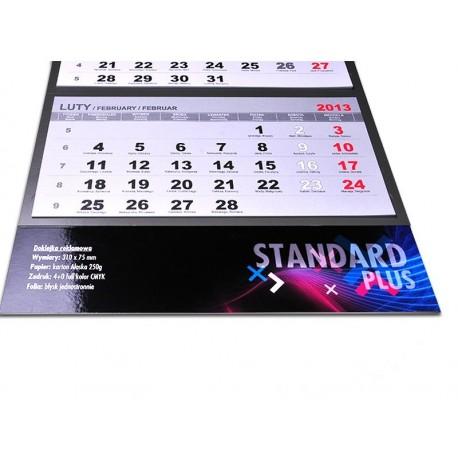 Kalendarz Trójdzielny Standard 10 szt Folia Błysk
