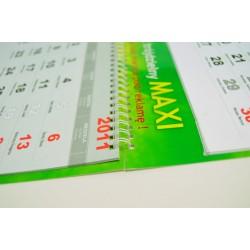 Kalendarz Trójdzielny MAXI 50 szt Folia Błysk Spiralowany