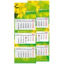 Kalendarz Trójdzielny MAXI 50 szt Folia Mat Spiralowany