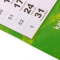 Kalendarz Trójdzielny MAXI 50 szt Folia Mat Klejony